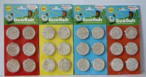 Таблетки для выгребных ям выпускаются в вакуумных герметичных пакетах