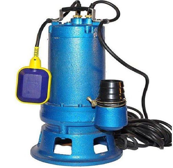 Внешний вид насоса для канализации с автоматическим датчиком давления