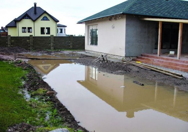 Дачный участок без системы водоотведения