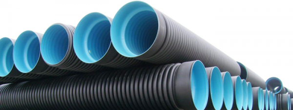 Пластиковые трубы с рёбрами жёсткости