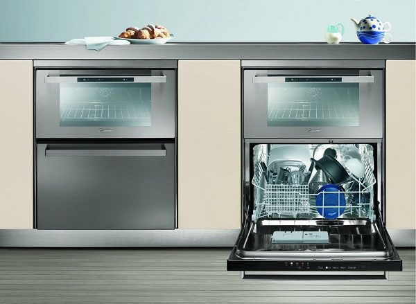 Внешний вид комбинированной газовой духовки и посудомойки