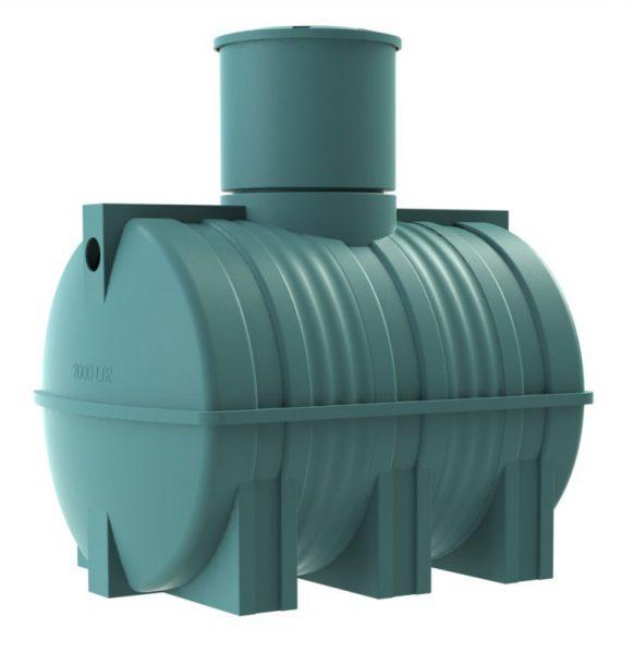 Пример современного накопителя из пластика для загородного дома