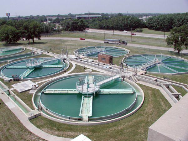 Внешний вид биофильтров в составе городской центральной канализации