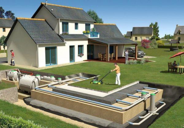 Пример проекта системы канализации в частном доме