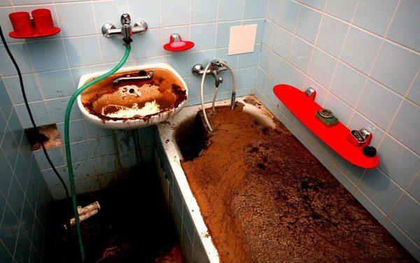 Последствия засорения канализации