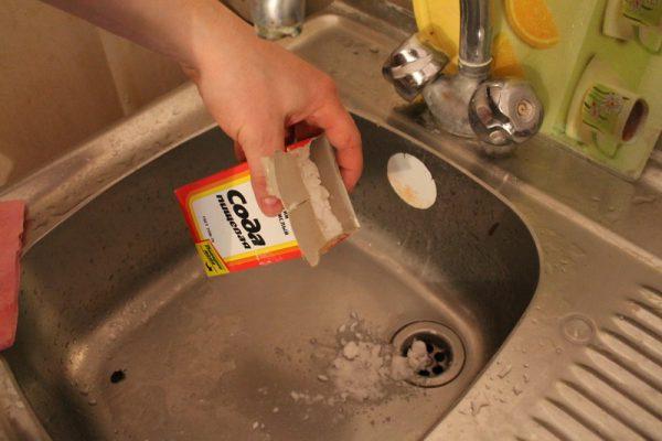 Сода для чистки канализационной системы