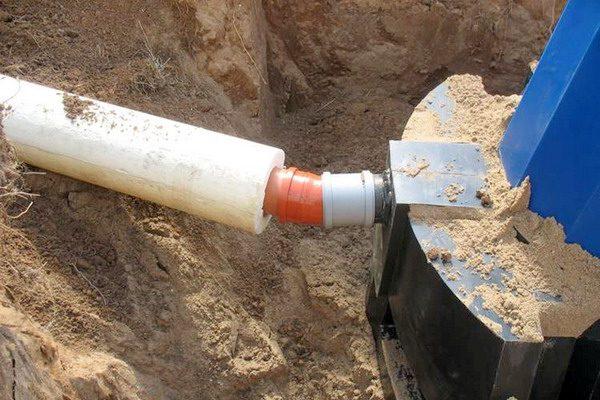 Защитная скорлупа из пенополистирола для канализации