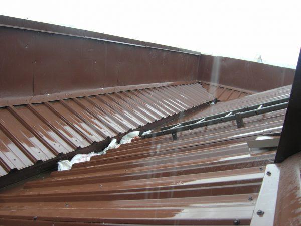 Внутренний водосток для крыши