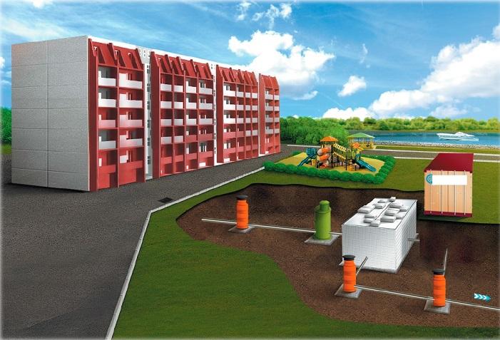 Схема устройства канализационной сети